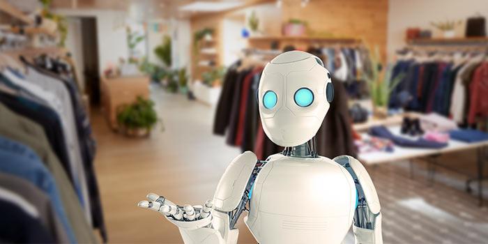 Roboter in Ladden